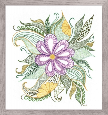 click here to view larger image of Lovely Flower (stamped cross stitch kit)