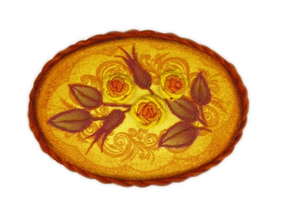 click here to view larger image of Brooch Tea Rose (stamped cross stitch kit)