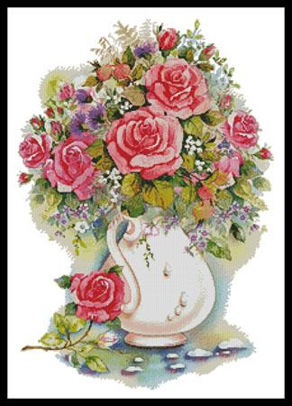 click here to view larger image of Pink Floral Arrangement 2 (chart)