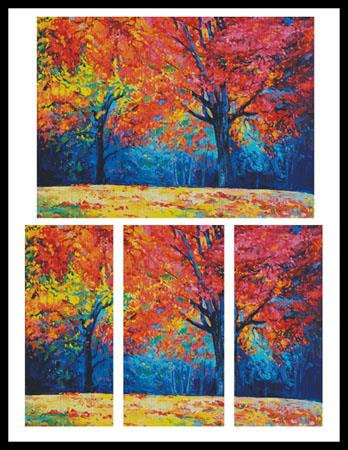 click here to view larger image of Autumn Landscape Abstract (Large) (chart)