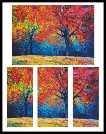 click here to view larger image of Autumn Landscape Abstract (chart)