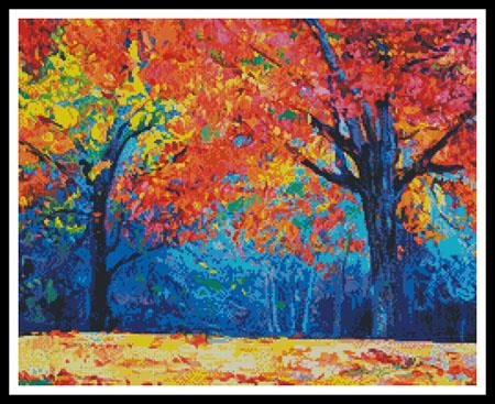 click here to view larger image of Autumn Landscape Abstract (Crop) (chart)