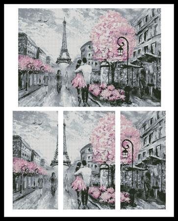 click here to view larger image of Paris Abstract (Large)  (Lisima) (chart)