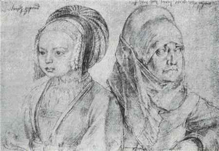 click here to view larger image of Young Girl Of Cologne And Durers Wife, A (chart)