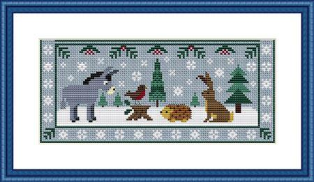 click here to view larger image of Holmsey Hares Winter Wonderland Mystery Sampler - Part 3 (chart)