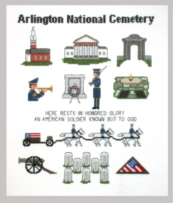 click here to view larger image of Arlington National Cemetary Sampler (counted cross stitch kit)
