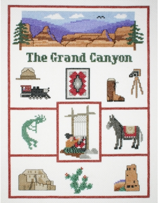 click here to view larger image of Grand Canyon Sampler (counted cross stitch kit)