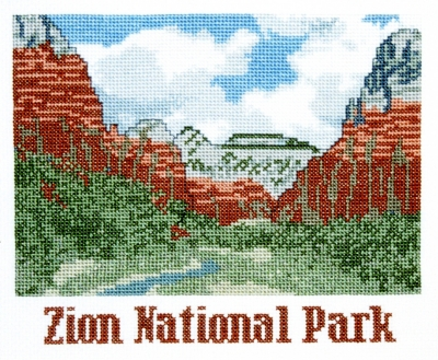 click here to view larger image of Zion National Park (counted cross stitch kit)