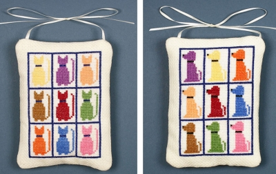 click here to view larger image of Cat And Dog Ornaments (counted cross stitch kit)