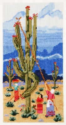 click here to view larger image of Saguaro Harvest (counted cross stitch kit)