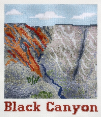 click here to view larger image of Black Canyon (counted cross stitch kit)