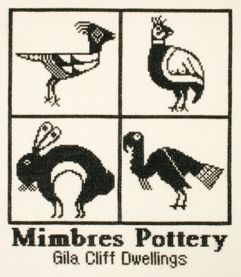 click here to view larger image of Mimbres Pottery (counted cross stitch kit)