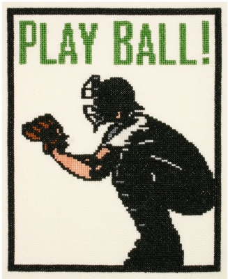 click here to view larger image of Play Ball! (counted cross stitch kit)