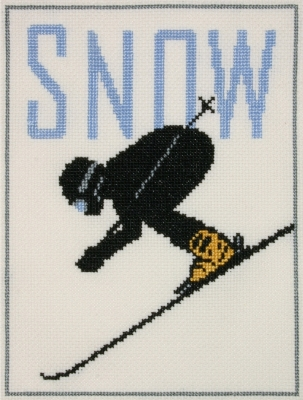 click here to view larger image of Alpine Skier (counted cross stitch kit)