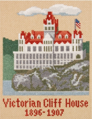 click here to view larger image of Cliff House 1896-1907 (counted cross stitch kit)
