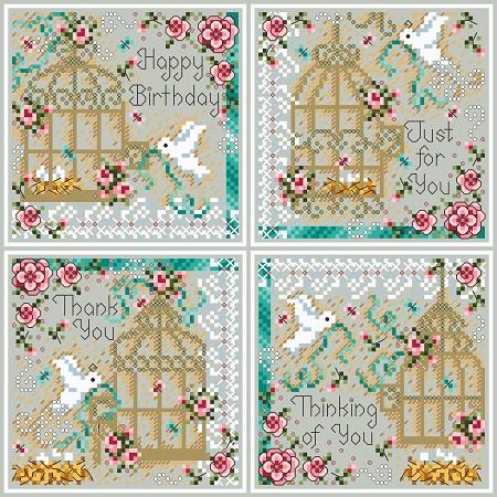 click here to view larger image of Birdcage Cards (chart)