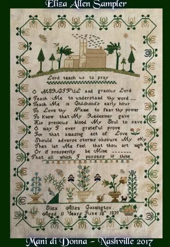 click here to view larger image of Eliza Allen Sampler (chart)