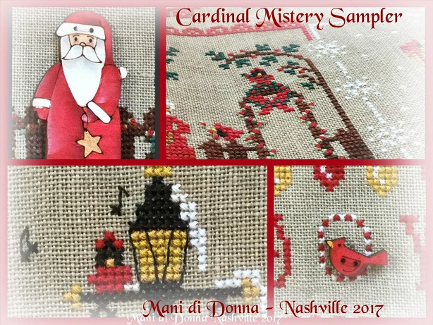 click here to view larger image of Cardinal Mystery Sampler - Part 1 of 4 (chart)