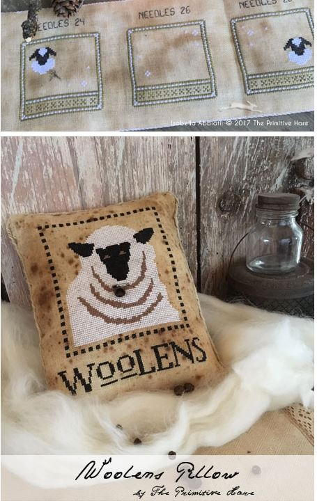 click here to view larger image of Woolens Pillow (chart)