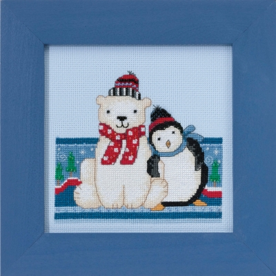 click here to view larger image of Polar Peace - Polar Opposites (counted cross stitch kit)
