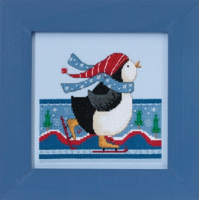 click here to view larger image of Polar Skate - Polar Opposites (counted cross stitch kit)