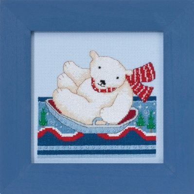 click here to view larger image of Polar Skate - Polar Slide (counted cross stitch kit)