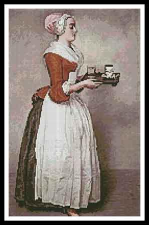 click here to view larger image of Chocolate Girl, The  (Jean-Etienne Liotard) (chart)