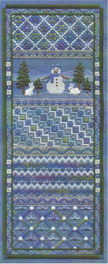 click here to view larger image of Snowman Panel (counted canvas chart)