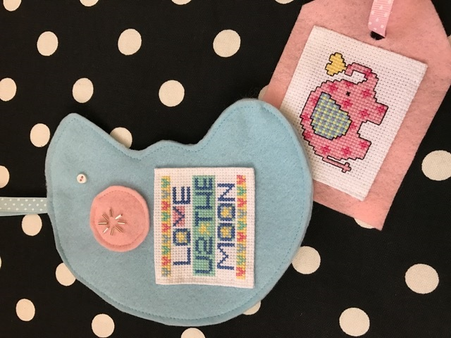 click here to view larger image of Pocket Cards - Moon Baby (chart with charms/buttons)