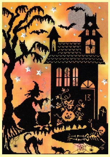 click here to view larger image of Pumpkin House (counted cross stitch kit)
