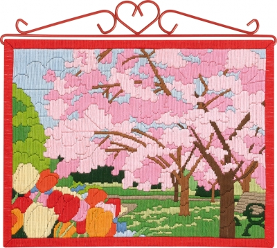 click here to view larger image of Cherry Blossoms Bellpull (needlepoint)