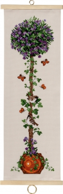 click here to view larger image of Pototoe Flower Tree Bellpull (counted cross stitch kit)