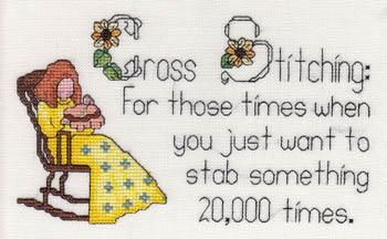 click here to view larger image of Cross Stitching - Stabbing Something 20,000x (chart)