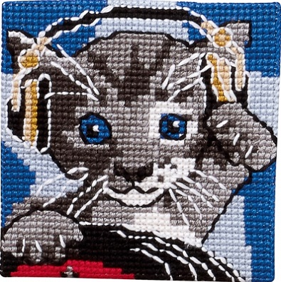 click here to view larger image of Cat - Printed Canvas (needlepoint)