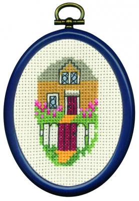 click here to view larger image of Yellow House (counted cross stitch kit)