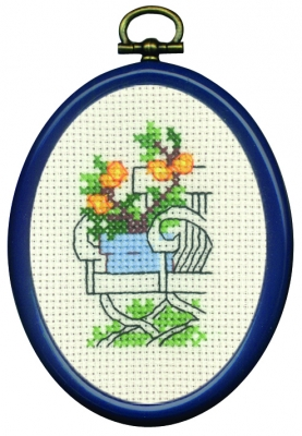 click here to view larger image of Yellow Plants On Chair (counted cross stitch kit)