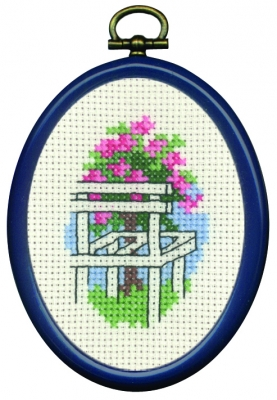 click here to view larger image of Red Flowers In Chair (counted cross stitch kit)