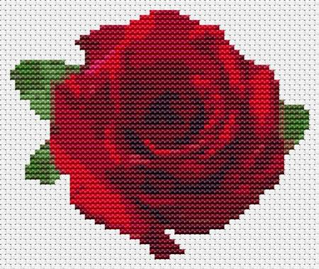 click here to view larger image of Red Rose - Mini Chart (chart)