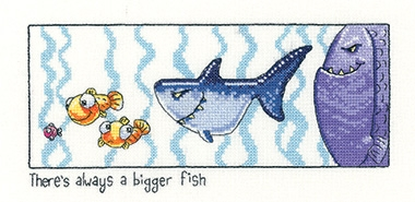 click here to view larger image of Always A Bigger Fish (Aida) (counted cross stitch kit)