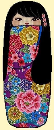 click here to view larger image of Pretty Kokeshi Doll 04 - Hatsumi (chart)