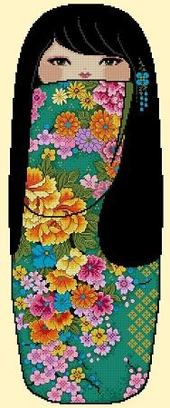 click here to view larger image of Pretty Kokeshi Doll 03 - Hinata (chart)