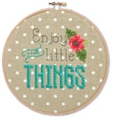 click here to view larger image of Enjoy The Little Things (counted cross stitch kit)