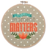 click here to view larger image of Every Moment Matters (counted cross stitch kit)