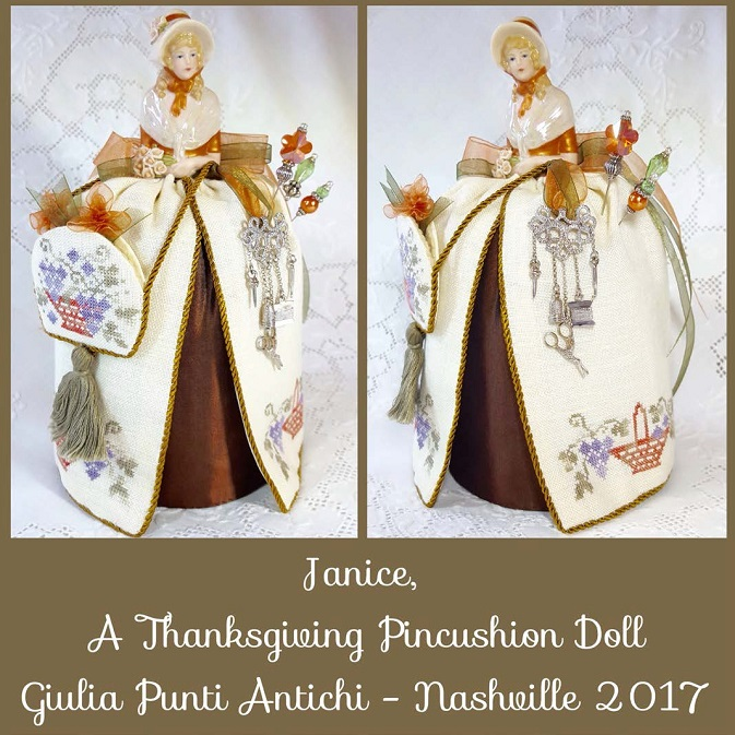 click here to view larger image of Janice - A Thanksgiving Pincushion Doll (chart)