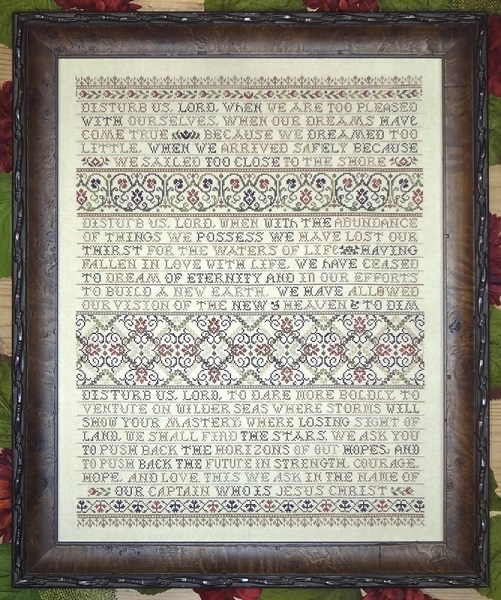 click here to view larger image of Disturb Us Lord - Prayer of Sir Francis Drake (chart)