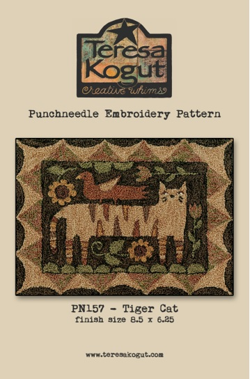 click here to view larger image of Tiger Cat - Punch Needle (Punchneedle)