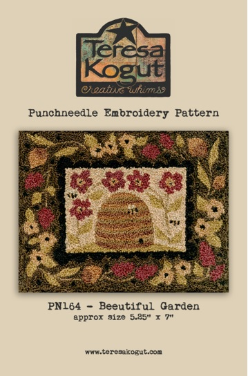 click here to view larger image of Beeutiful Garden - Punch Needle (Punchneedle)