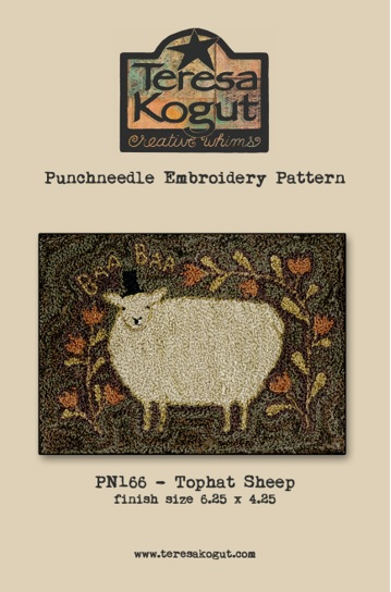 click here to view larger image of Tophat Sheep - Punch Needle (Punchneedle)
