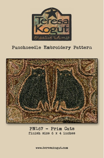 click here to view larger image of Prim Cats - Punch Needle (Punchneedle)
