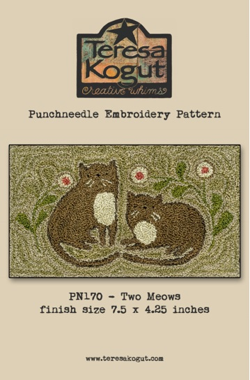 click here to view larger image of Two Meows - Punch Needle (Punchneedle)